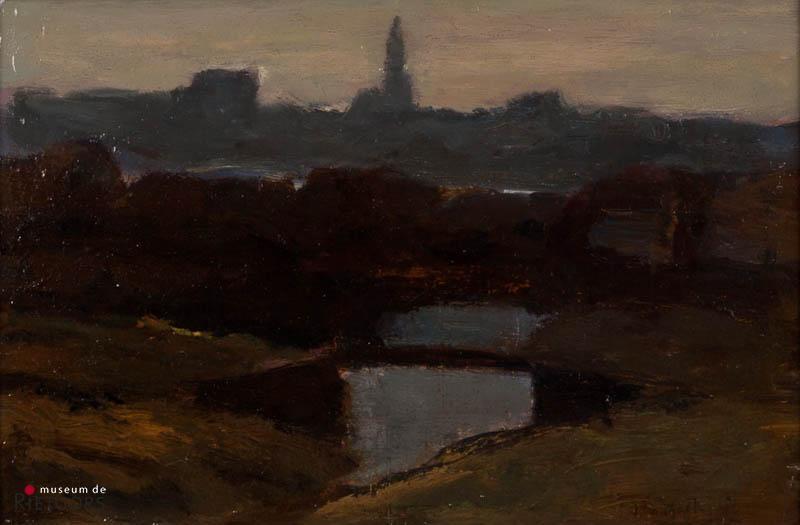 "M.H. Mackenzie (1878-1961) - ""Slatuinen bij Amsterdam"". Ges. R.O."