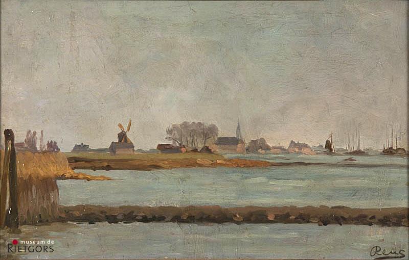M.P. Reus (1865-1938) - Gezicht op Molenpolder. Ges. R.O.
