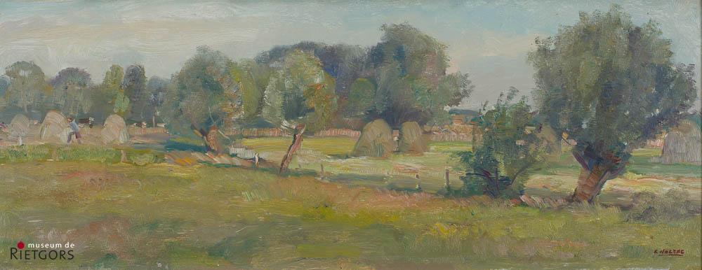 B.C. Noltee (1903-1967) - Zomerlandschap. Ges. R.O.