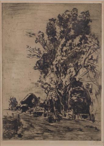 W. de Zwart (1862-1931) - Landschap met opgaande bomen. Ges. R.O.