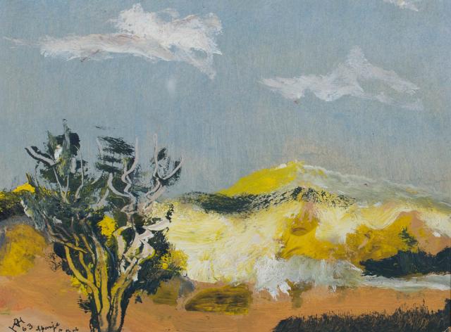D. Henkes (1903-1989) - Landschap in Spanje. Ges. L.O.