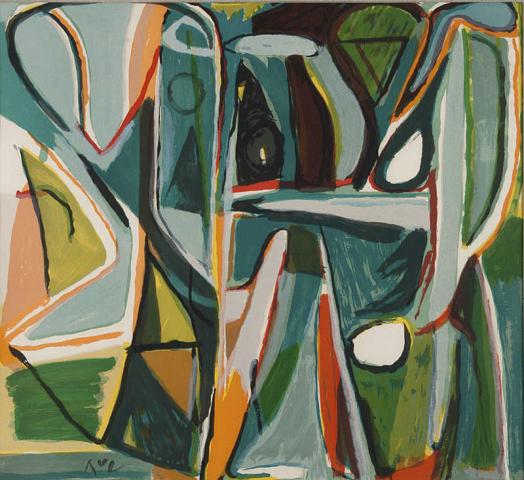 B. van Velde (1895-1981) - Compositie. Ges. L.O. en 2/100.