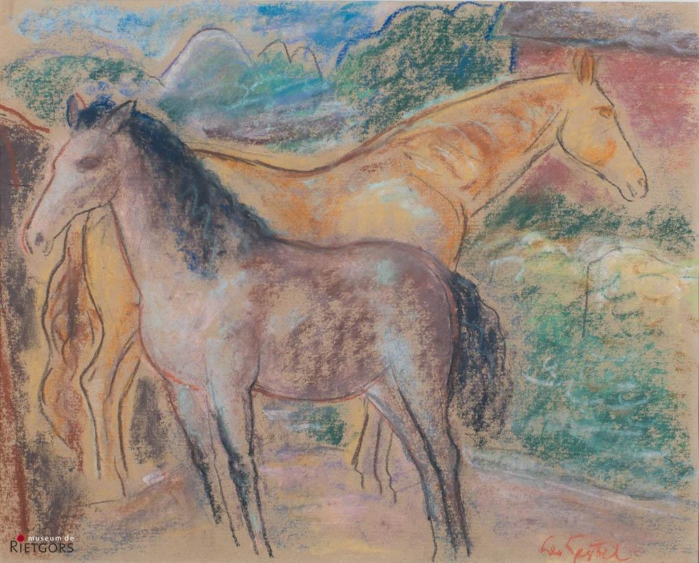 L. Gestel (1881-1941) - Paardjes. Ges. R.O.