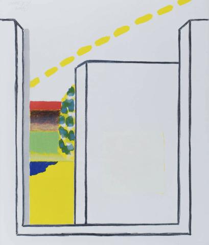 R. Raveel (1921-2013) - Deuropening. Ges. en 17/100.