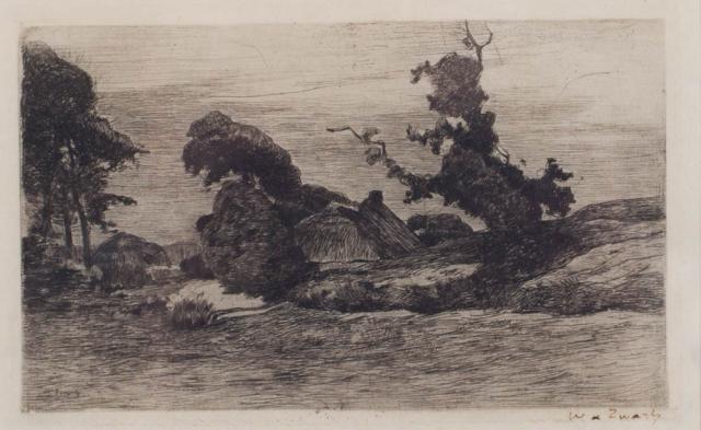 W. de Zwart (1862-1931) - Landschap met bomen. Ges. R.O.