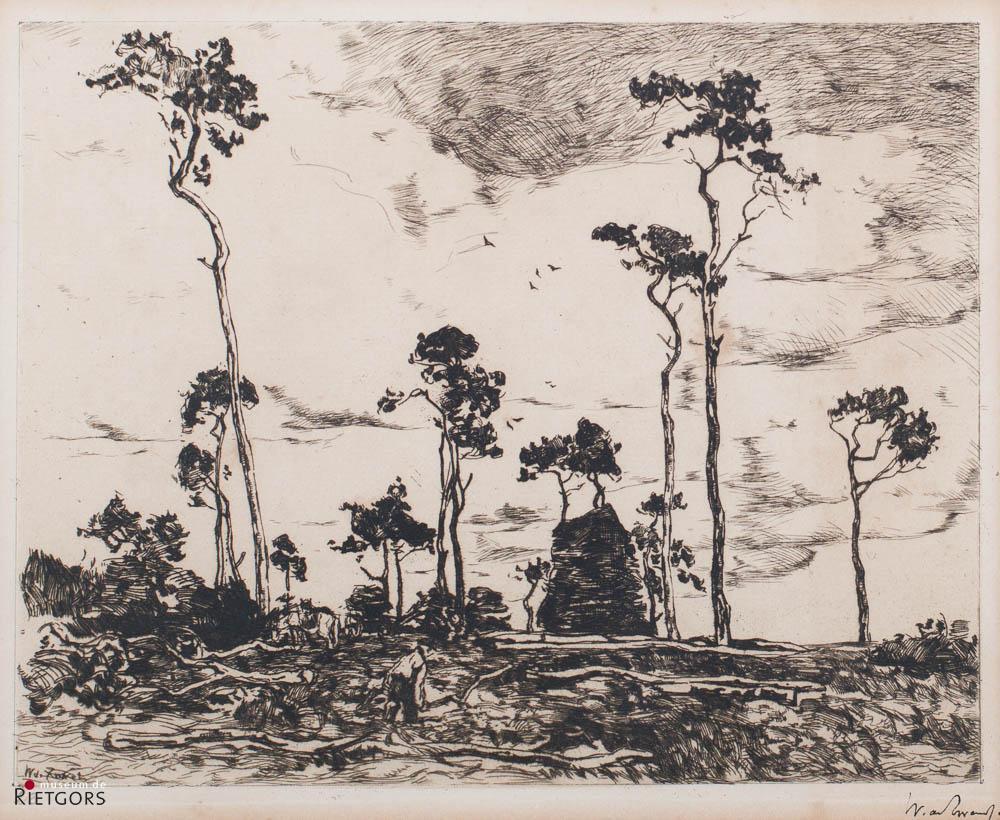 W. de Zwart (1862-1931) - Hakhoutladen. Ges. en nr.23.