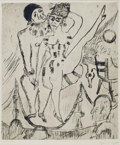 Jan Wiegers (1893-1954) - Cabaret. 51/120. Atelierstempel.