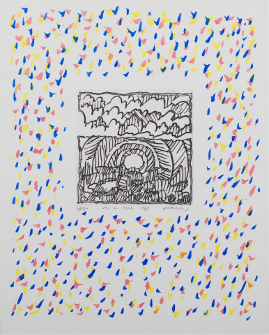 "P. Alechinsky (1927) - ""Arc en terre"". Ges. en 1979. 40/60."