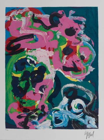 "Karel Appel (1921-2006) - ""Éloge de la folie"". Ges. R.O. en 70/110."