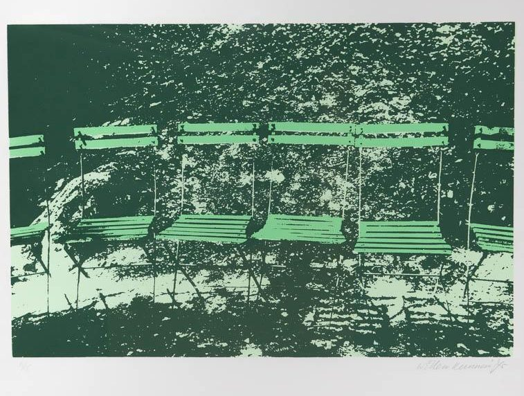 W. Kunnen - Stoeltjes in groen. Ges. R.O. en '75.