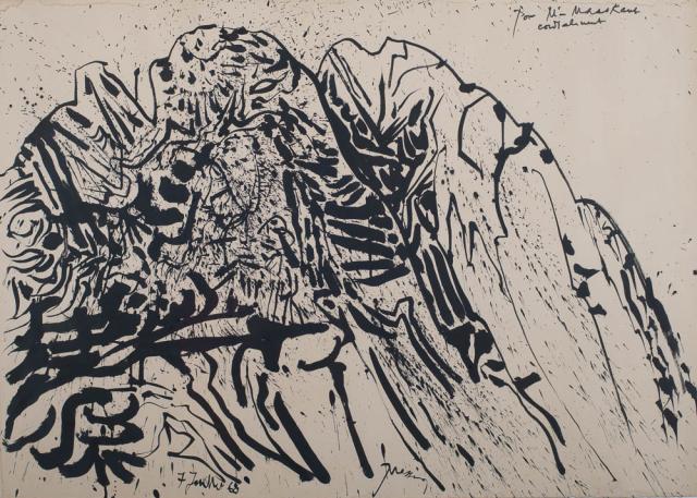 M. Prassinos (1916-1985) - Abstracte compositie. Ges. en '68.