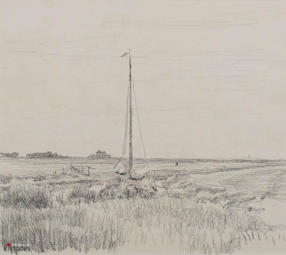 W.B. Tholen (1860-1931) - De Eudia, atelierboot.
