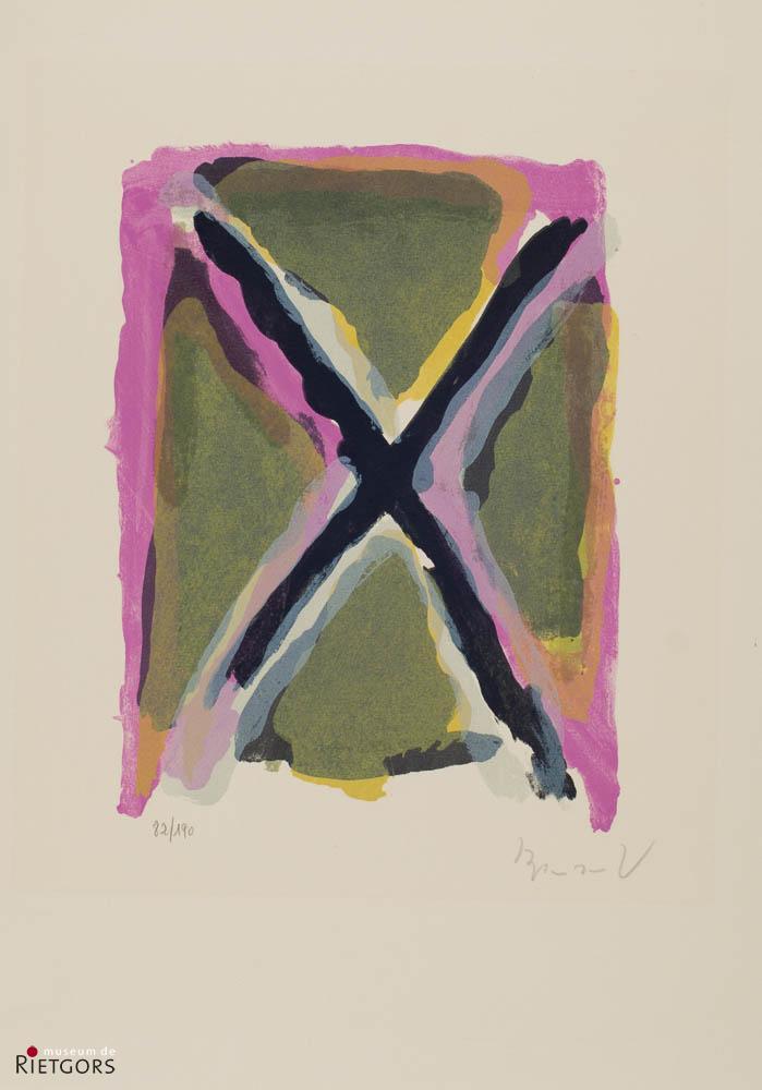 B. van Velde (1895-1981) - Compositie. Ges. 82/190.