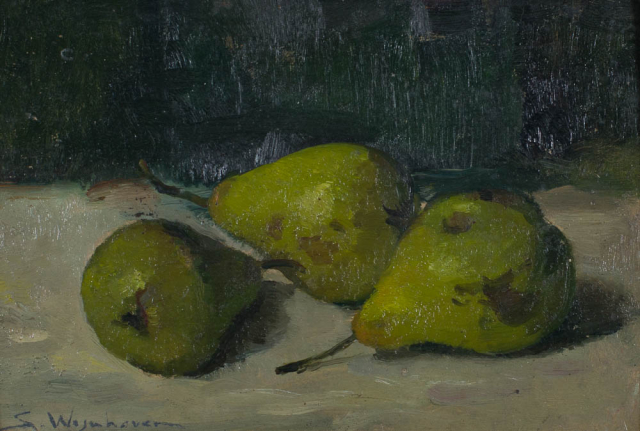 S. Wijnhoven (1898-1972) - Drie peertjes. Ges. L.O.