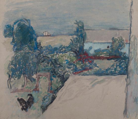 J.F. Kuyper (1906-1983) - De tuin van de buren. Ges. R.O.