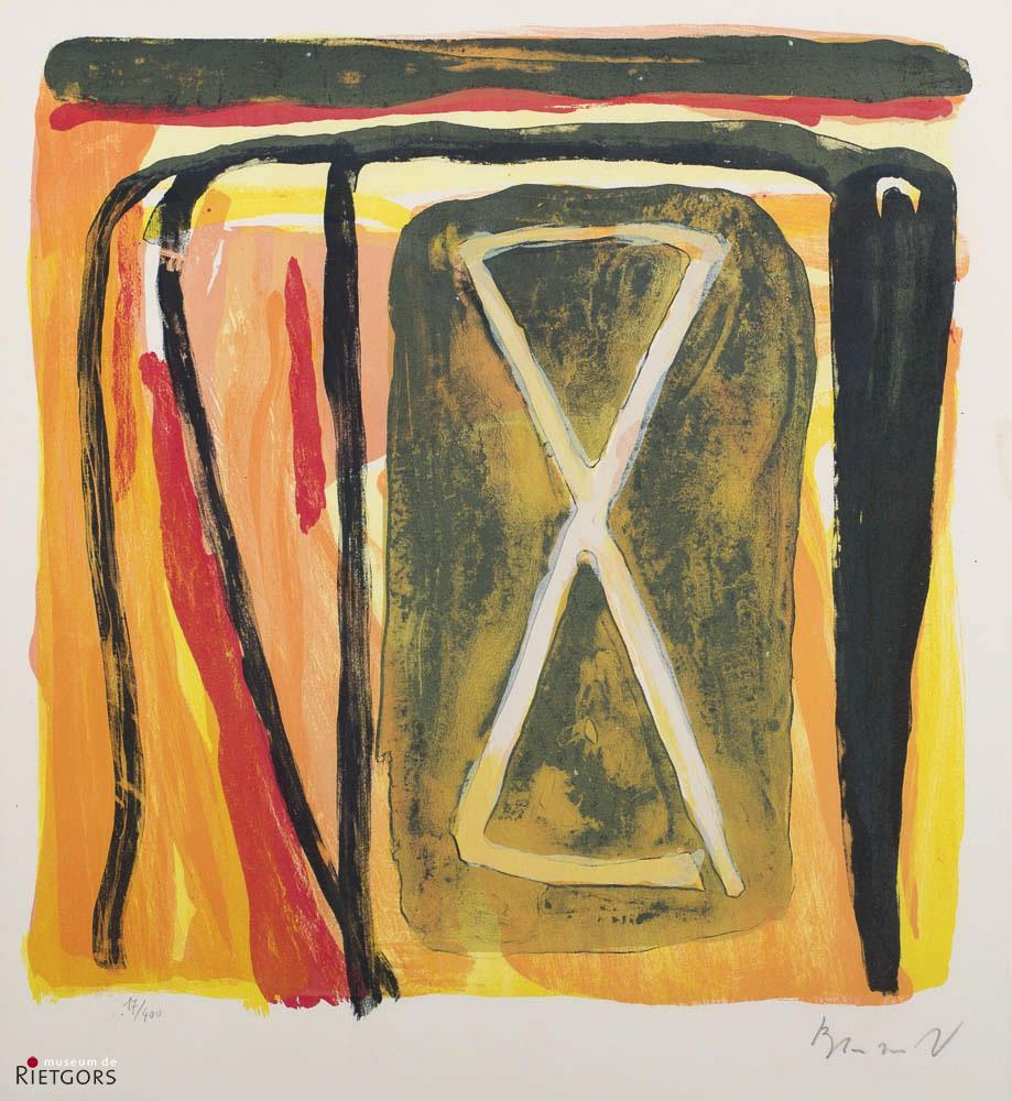 B. van Velde (1895-1981) - Compositie. Nr. 212. Ges. R.O. en 17/400.