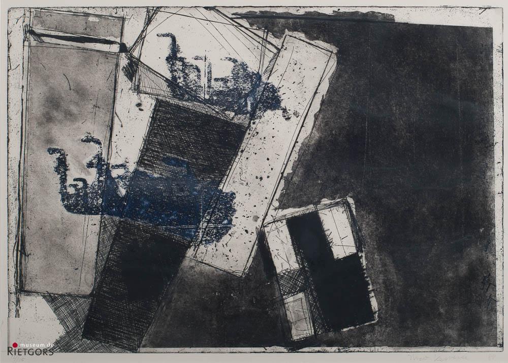 Nico Kervezee - Abstractie. Ges. R.O. en '88. 14/15.