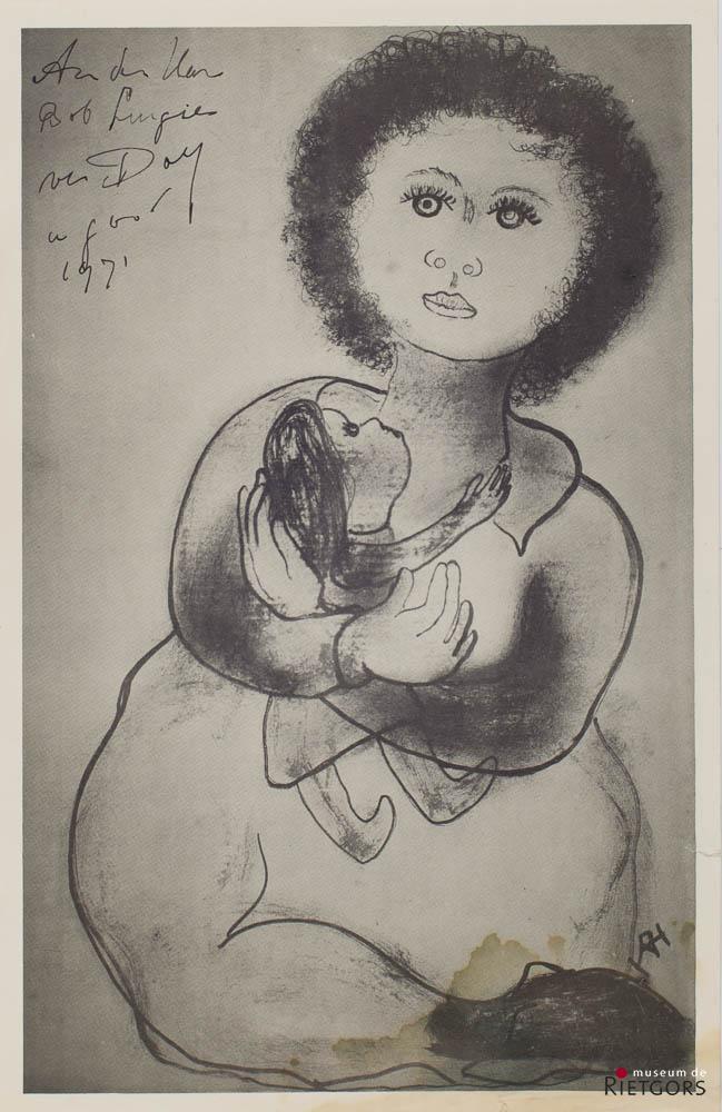D. Henkes (1903-1989) - Meisje met pop