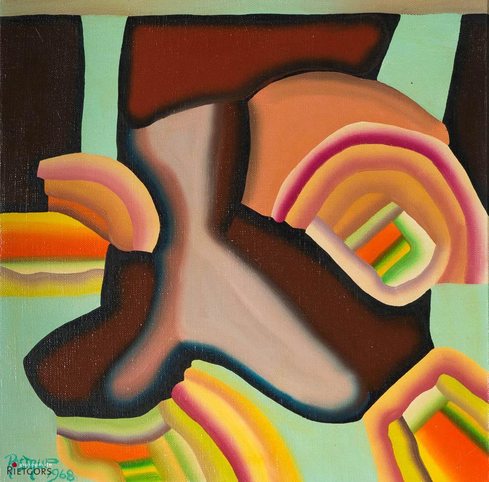 """S. Rostrup (1947-1997) - """"Organische constructie XCVII. Ges. R.O. en '68."""""""